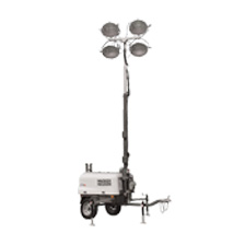 Mobile light stand with tower